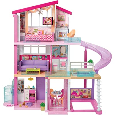 ​ Barbie Dreamhouse Dollhouse with Pool, Slide and Elevator: Toys & Games
