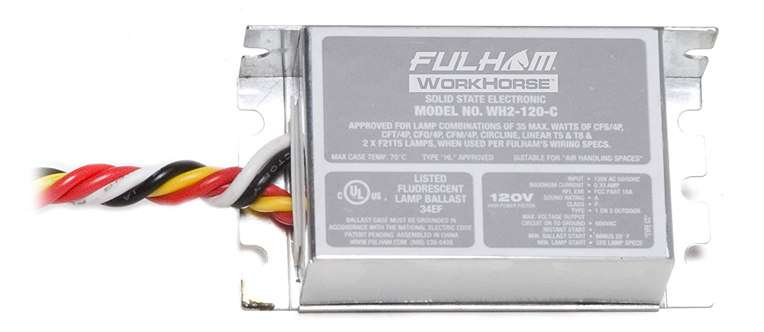 71vP MphMzL._SL1500_ amazon com fulham workhorse adaptable ballast, wh2 120 c home fulham workhorse 3 wh3-120-l wiring diagram at alyssarenee.co