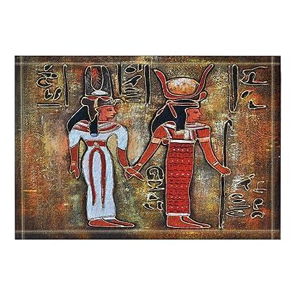 Amazon.com: NYMB KOTOM Egyptian Decor, Egypt King Queen Bath Rugs ...
