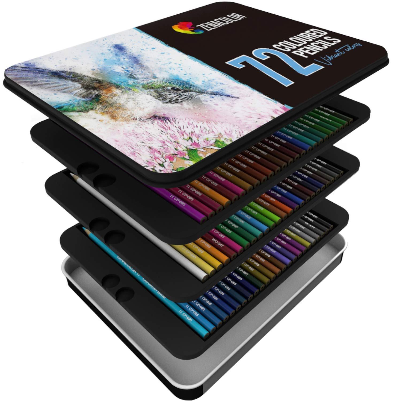 72 lápices de colores Caja de metal de color de regalo zenacolor Numerada