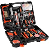 100-Piece Home Tool Kit ,ICOCO General Household Tool Kits Set for Home Maintenance with Plastic Toolbox Storage Case