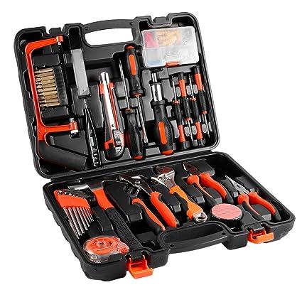 100-teiliger Universale Werkzeugkoffer, Premium Werkzeugset für den Heimwerker