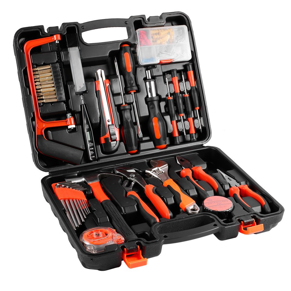 Tool Kits, 100 Pcs Precision Tool Maintenance Multi-functional Repair Hardware Instrumental Sets Home Robust Lightweight Universal by ICOCO