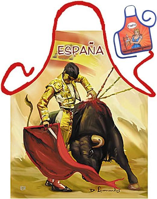 España Espana Tor rero Toro el Viajero – Fun Diseño Delantal – con ...