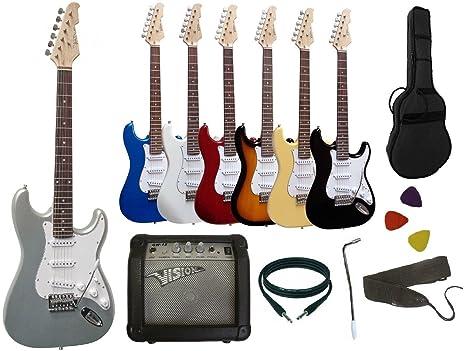 Pack de guitarra eléctrica: amplificador de 15 W, afinador electrónico, 7 accesorios,