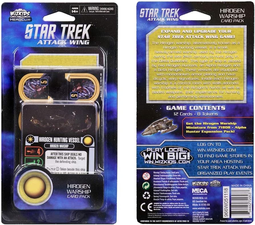Star Trek: Attack Wing Hirogen Warship Card Pack (Wave 4) - English: Amazon.es: Juguetes y juegos