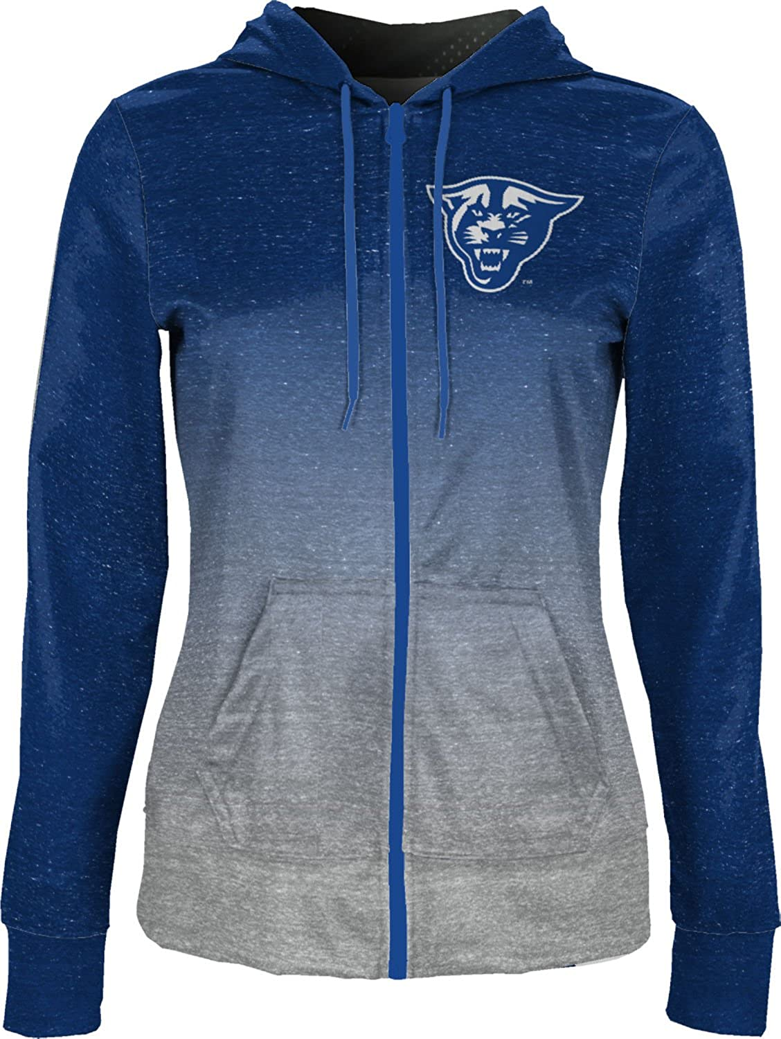 School Spirit Sweatshirt Georgia State University Girls Zipper Hoodie Gradient
