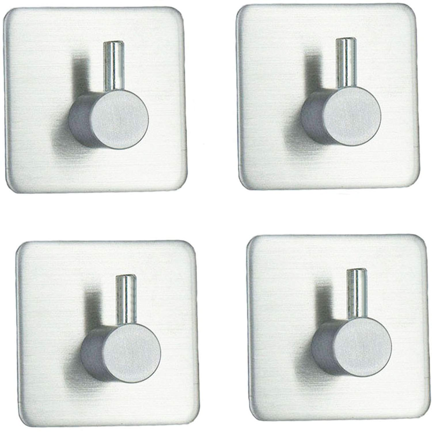 Self Adhesive Hooks, Towel Hook Wall Mounted Heavy Duty for Kitchen,Bathroom Robe Hook, Lavatory Closets (8 Pack) GANUZUO