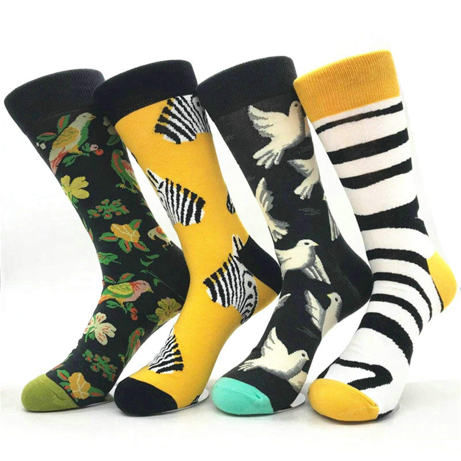 Aooaz Winter Warm Socks Personality Graffiti Contrast Series Ten Pairs of Random Mixed Colorful