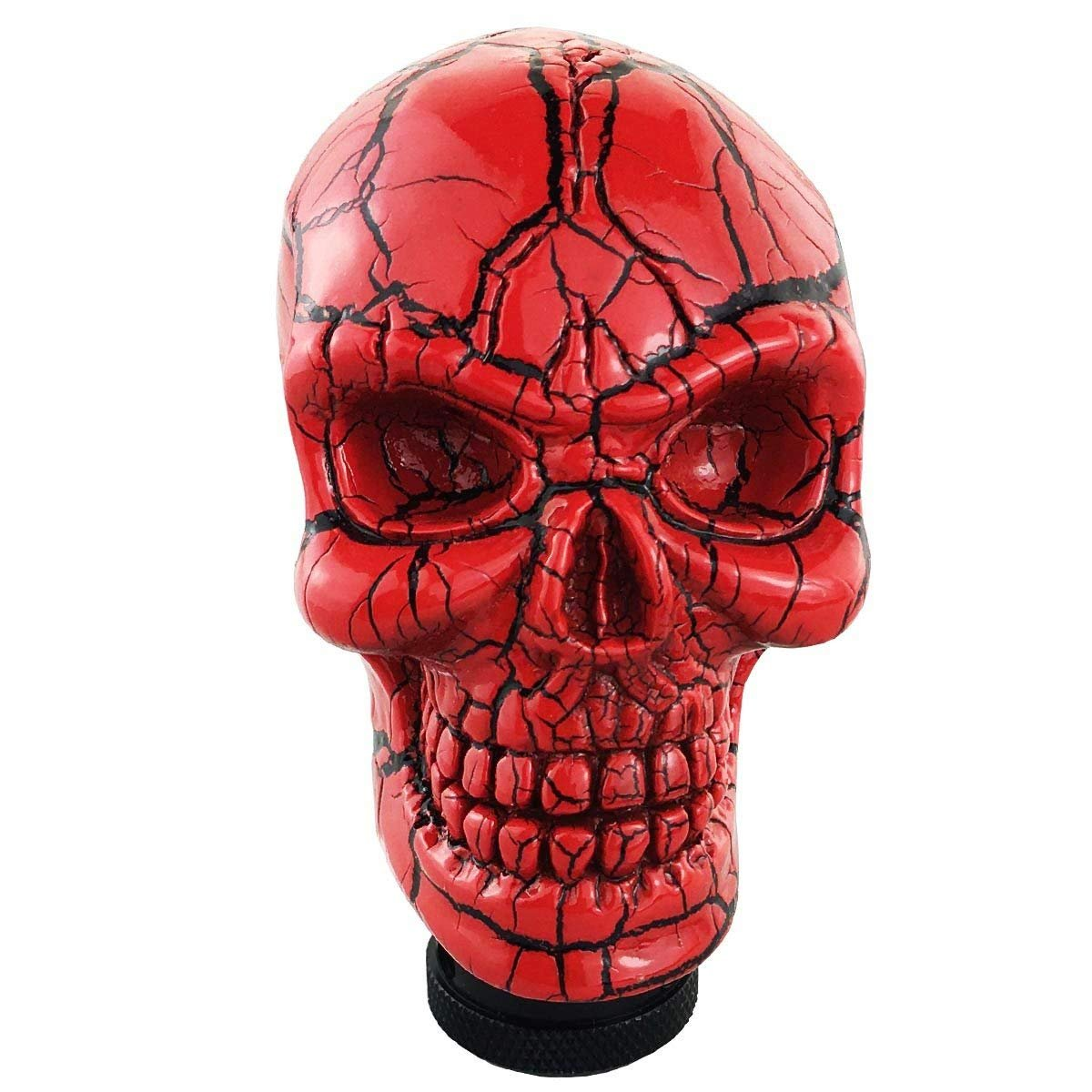 Dymix Blue Universal Shift Knob Automatic Gear Shifter Manual Stick Shift Handle Skull Shifter Knobs for Car Vehicles