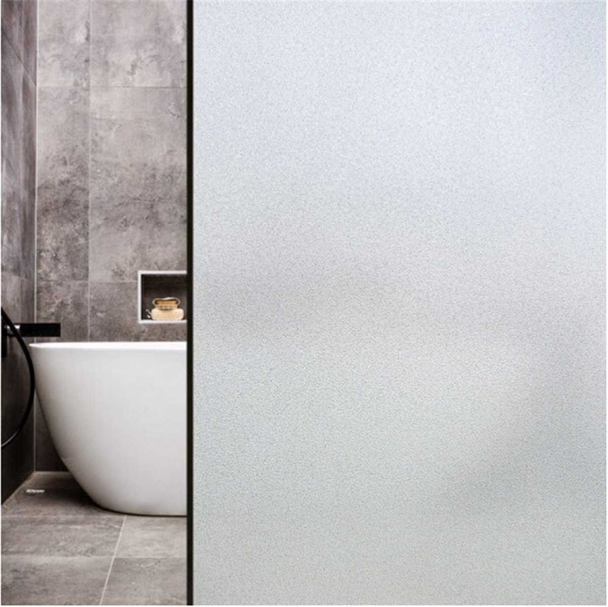 Window Film Non Adhesive Frosted Privacy Window Film Self Static Cling Vinly Privacy Window Film Matte White Window Film Both for Home Bathroom Office Meeting Room and Living Room ( 35.4x78.7 Inch)