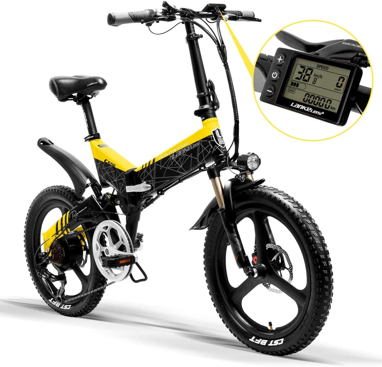 LANKELEISI G650 - Bicicleta eléctrica (20 x 2,4 grande), para ...