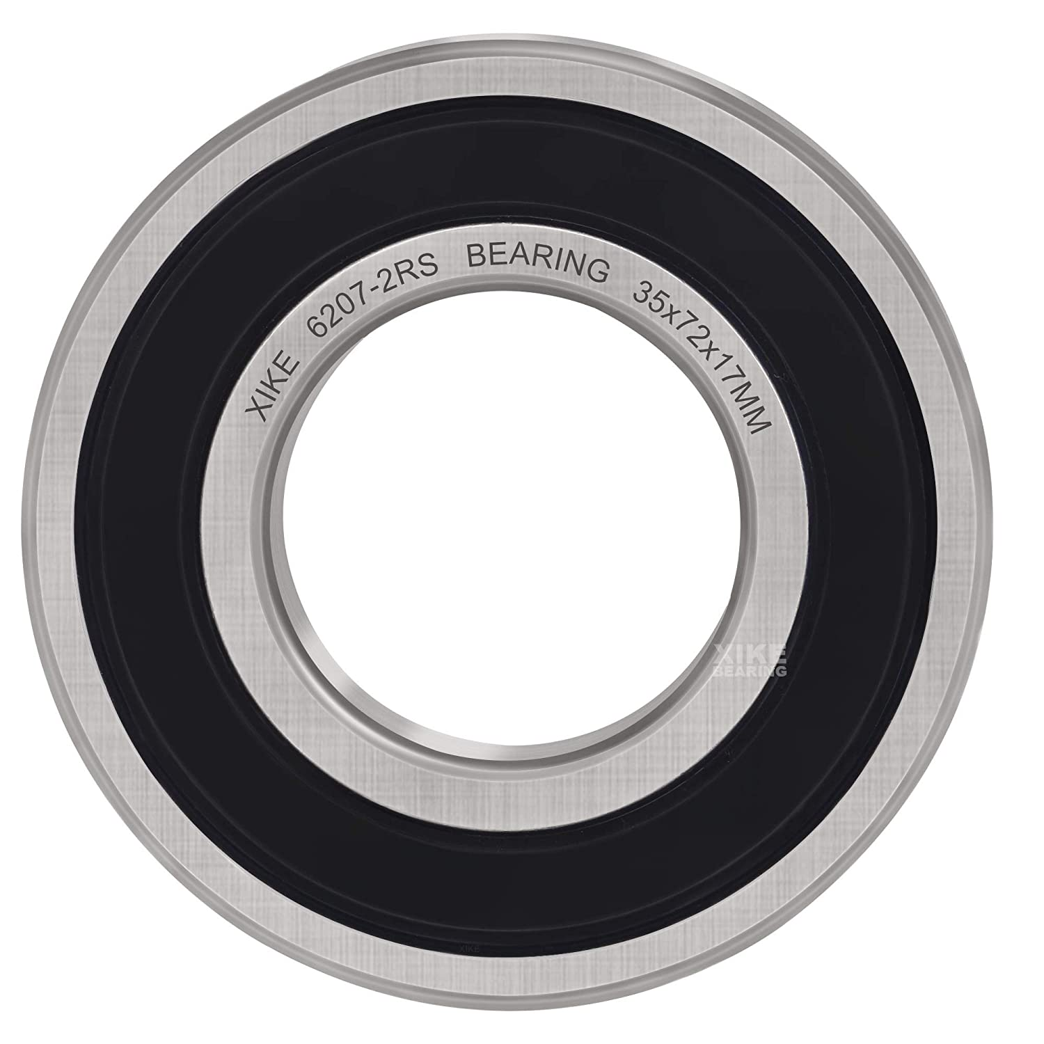 XiKe 4 Pcs 6207-2RS Double Rubber Seal Bearings 35x72x17mm Deep Groove Ball Bearings. Pre-Lubricated and Stable Performance and Cost Effective
