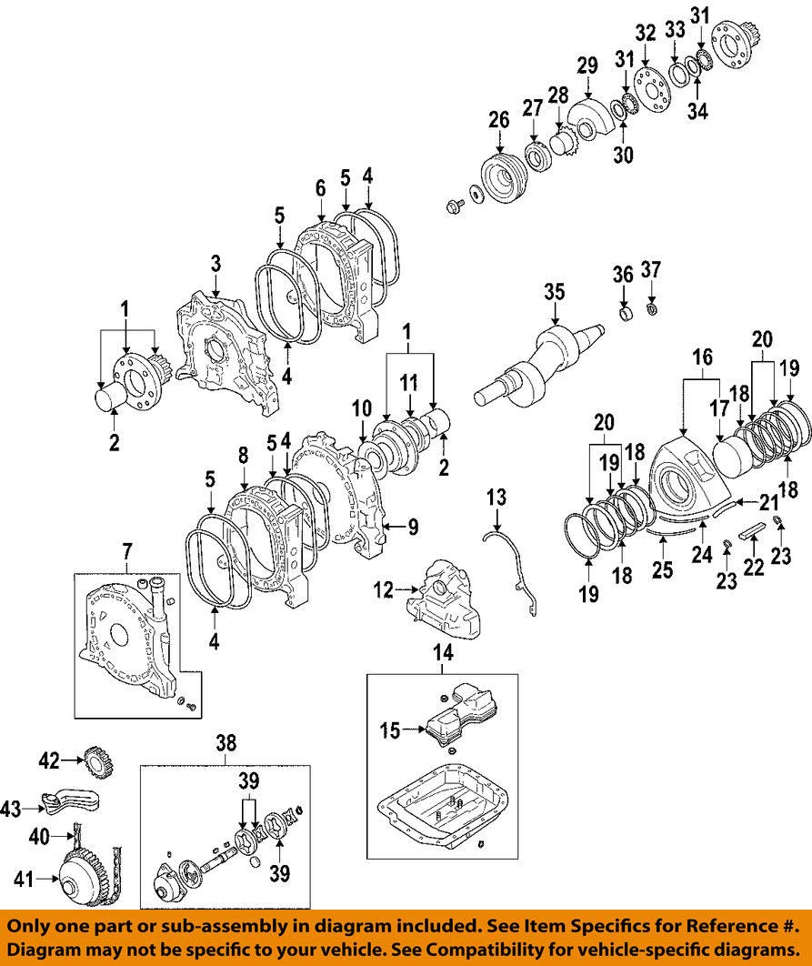 Amazon Com Mazda Oem 04 11 Rx 8 Engine Crankshaft Crank Main