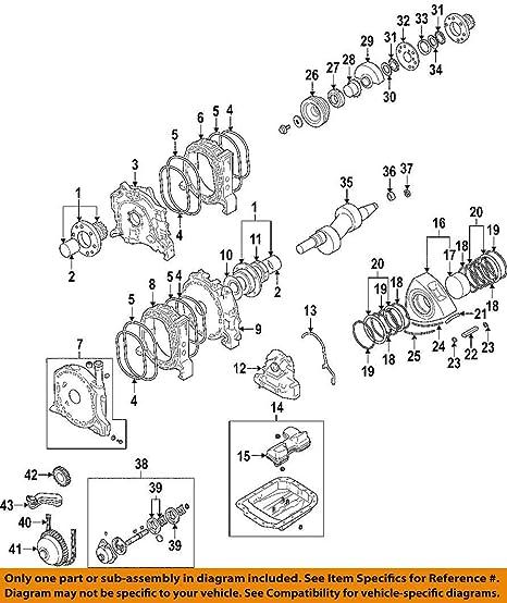 amazon com mazda oem 04 11 rx 8 engine side seals n3z311c10d 2004 Mazda 6 Engine Diagram