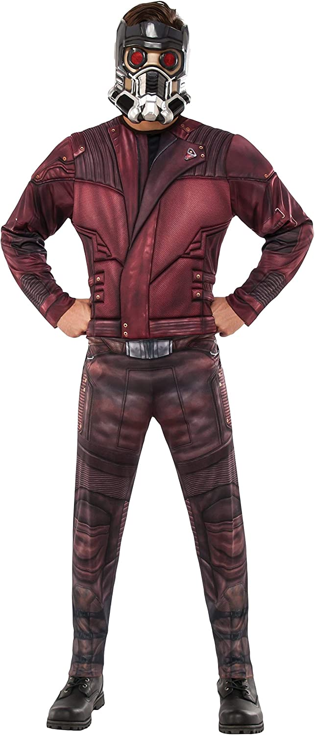 Rubie's Men's Marvel Guardians of the Galaxy Vol. 2 Star-Lord Deluxe Costume, Standard