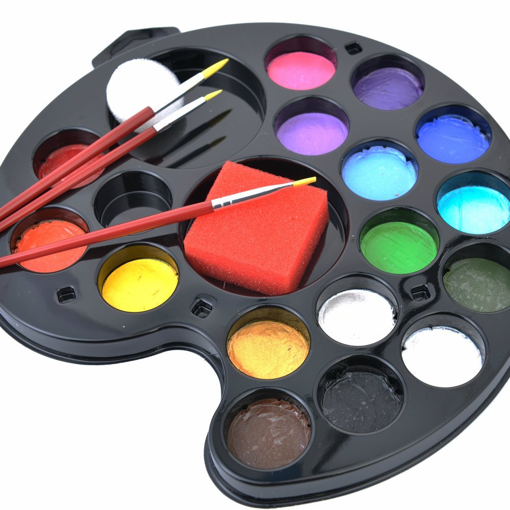 Face painting kit for kids and professionals best usa safe for Homedepot colorsmartbybehr com paintstore