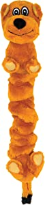 SmartPetLove Tender-Tuffs - Tug Plush Dog Toy (Stretchy Brown Dog)