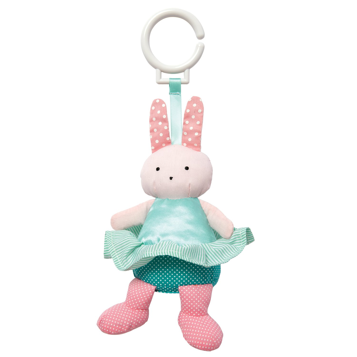 Manhattan Toy Baby Bell Chime Bunny Travel Toy