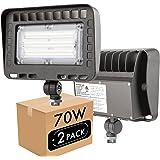 Lightdot Outdoor LED Flood Light (70W Eqv 300w) 5000K Adjustable Angle Required for Illuminating Flagpole/Tree/Yards/Advertis