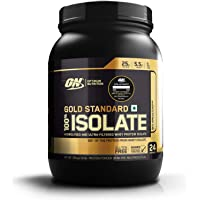 Optimum Nutrition (ON) Gold Standard 100% Isolate Whey Protein Powder - 1.6 lb, 24 servings (Rich Vanilla)