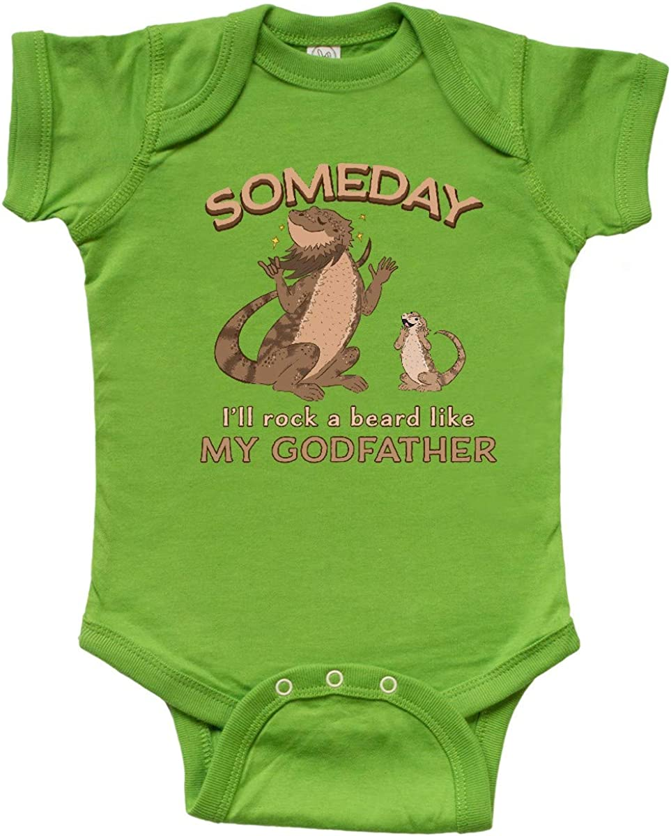 inktastic Someday Ill Rock a Beard Like My Dad-Bearded Dragons Baby T-Shirt
