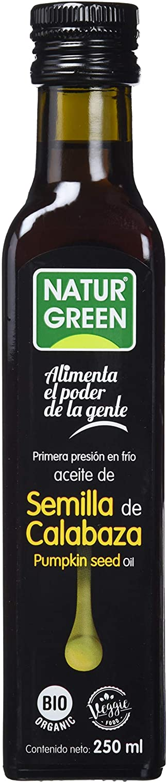 NaturGreen Aceite de Semilla de Calabaza Bio de Primera Presión - 250 ml.