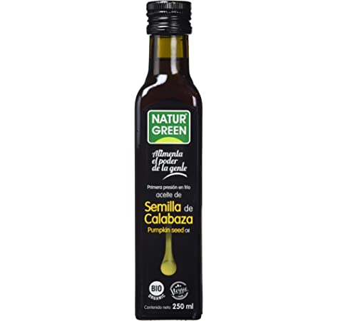NaturGreen Aceite de Semilla de Calabaza Bio de Primera Presión - 250 ml.: Amazon.es: Alimentación y bebidas