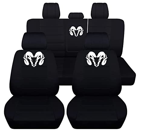 Tremendous Fits 2012 To 2018 Dodge Ram Front And Rear Ram Seat Covers 22 Color Options 40 60 Rear With Armest Black Ocoug Best Dining Table And Chair Ideas Images Ocougorg