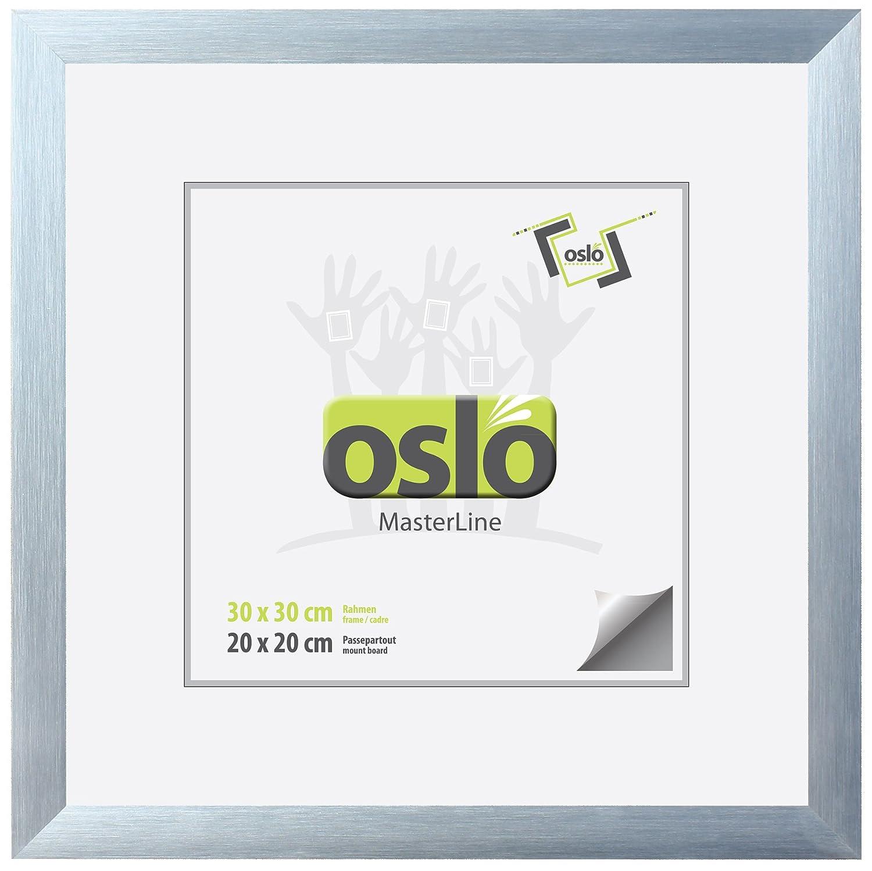 Amazon.de: OSLO MasterLine Bilderrahmen 30x30 quadratisch schwarz ...