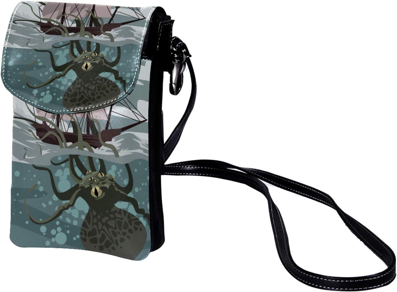 TIZORAX Ripen Aguacate con semillas Pequeño Crossbody Bolso de teléfono celular Monedero para mujeres Niñas