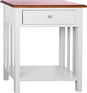 Porthos Home Tonality Designs Emerson 1 Drawer Nightstand, White