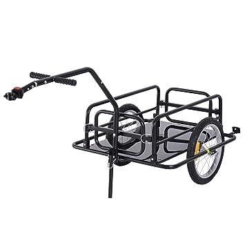 HOMCOM - Remolque de Bicicleta Remolque de Transporte para ...