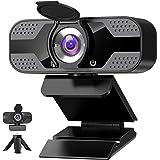 Webbkamera med mikrofon för PC, 1080P HD USB webbkamera med sekretessslutare och webbkameraskydd och stativ, strömmande…