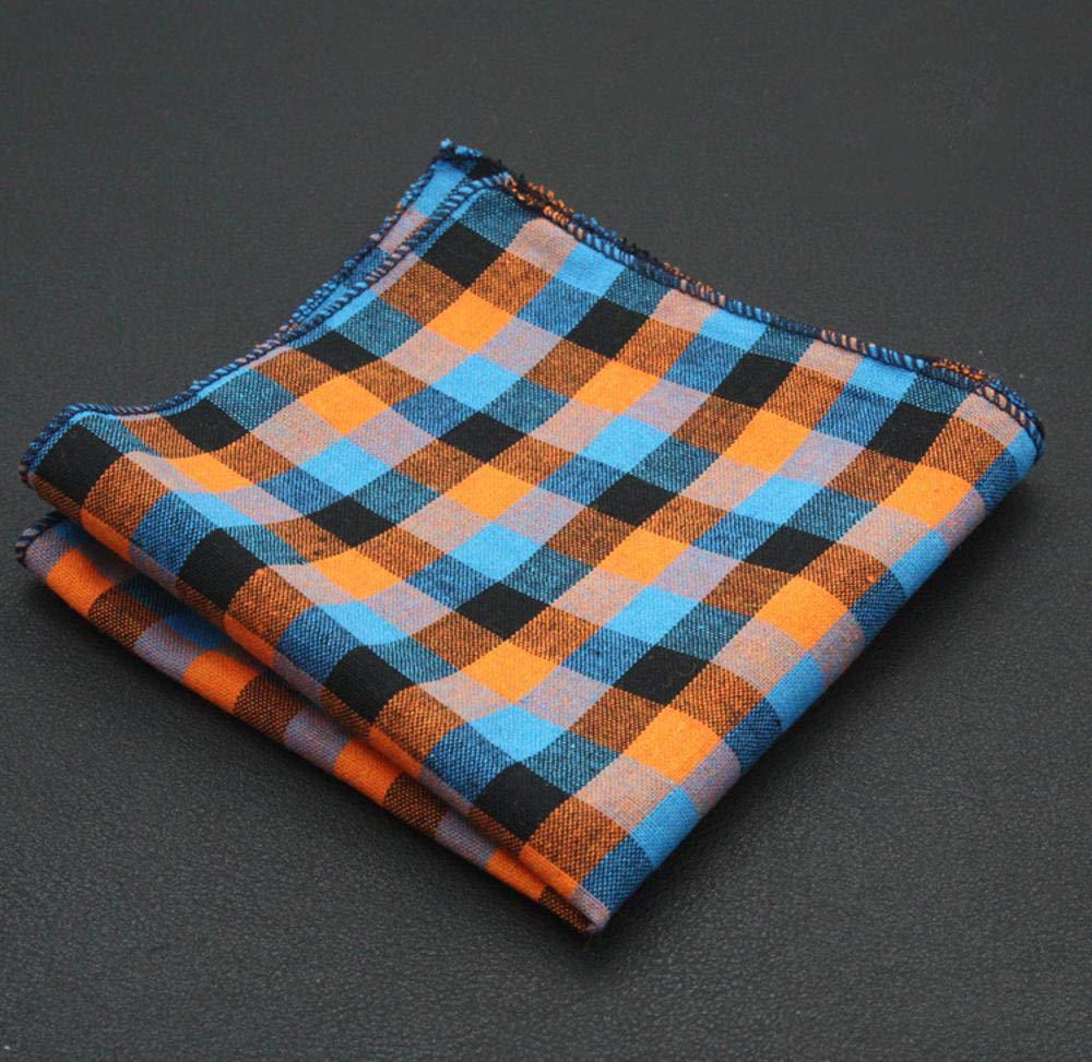 SKYyao Pañuelo de Bolsillo Hombres Bolsillo Toalla Bordado Traje pañuelo Toalla algodón Cuadros Rayas Plaza Toalla 23 * 23cm: Amazon.es: Hogar