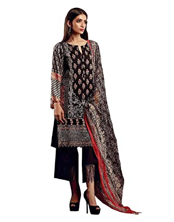 5f718fcce9 Madeesh Pakistani Suit for women, Winter Collection, Pashmina Printed Top,  Embroidery patch work, Pashmina Bottom, Beautiful ...