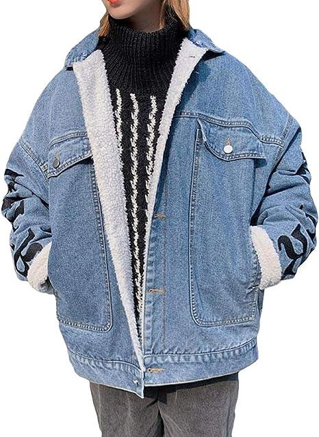 YiTong メンズ デニム コート トップス 起毛 防寒 あったか アウター メンズ もこもこ コート アウター ゆったり コート ジャケット 秋 冬 おしゃれ デニムコート ヒップホップ系