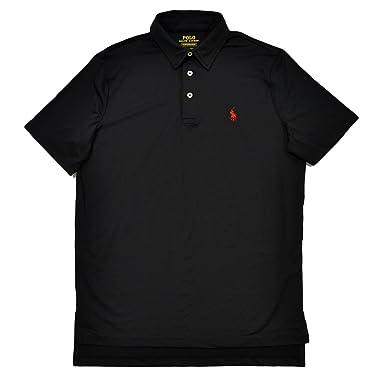 Polo Ralph Lauren Mens Performance Interlock Polo Shirt (Small, Polo Black)