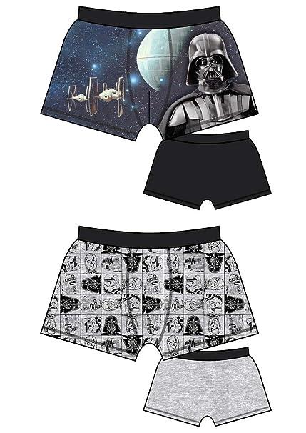 Star Wars - Ropa Interior - Hombre Multicolor Negro Y Gris Small