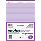 """Roaring Spring Enviroshades Recycled Legal Pads, 3 Pack, 8.5"""" x 11.75"""" 50 Sheets, Orchid"""