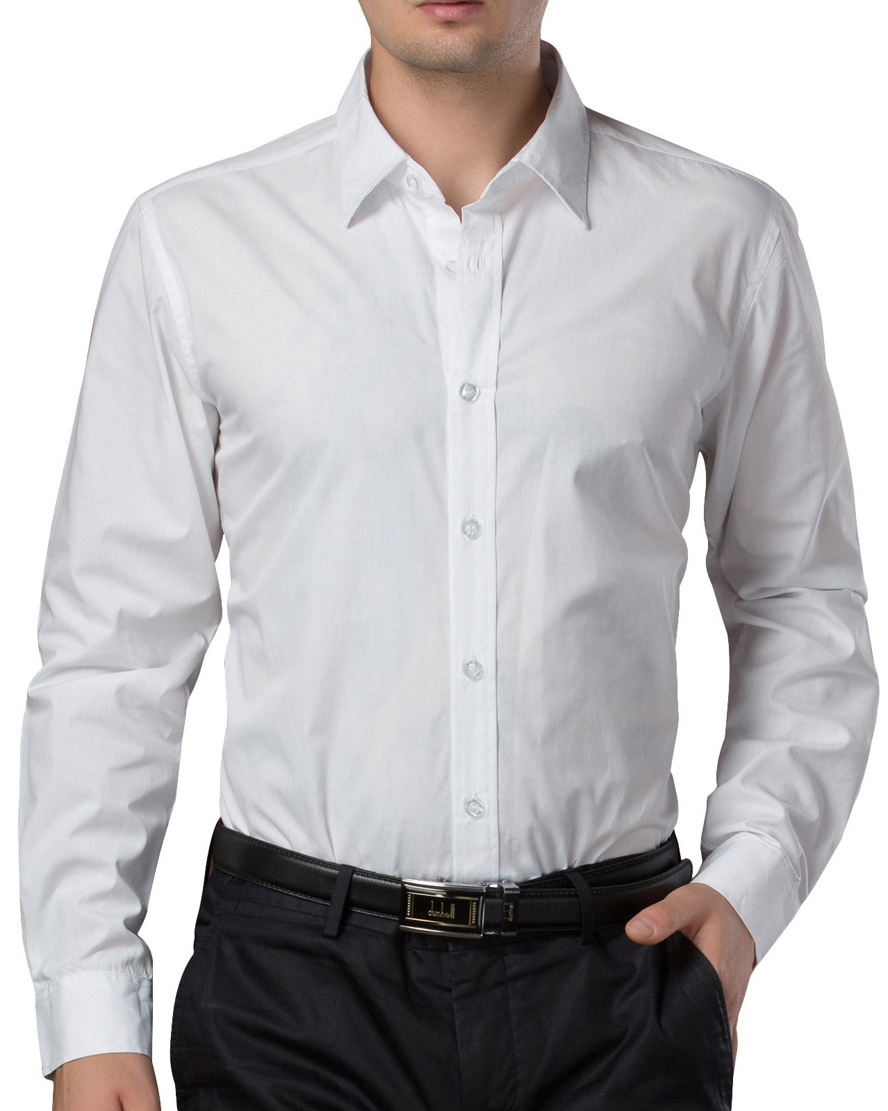Men's Casual Business Slim Fit Shirt Button Down