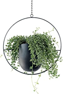 Abetree Metal Hanging Planters for Indoor Plants Modern Boho Flower Pots Mid Century Minimalist Wall and Ceiling Hanging Planter Holder Home Décor