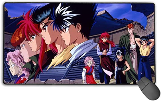 Long Mouse Pad Laptop AntonioWilliams Yu Yu Hakusho Large Mouse Pad Computer Game Pad 15.8 X 29.5 Inch Non-Slip Rubber Stitching Lock Mouse Pad Desktop Mouse Pad for Office//Home