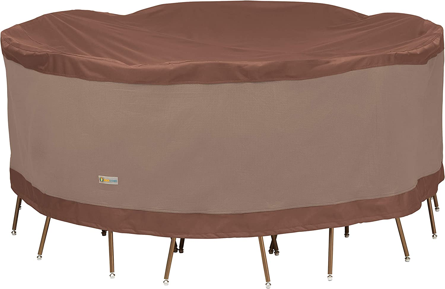 Duck Covers Ultimate Round Patio Table with Chairs Cover, 76-Inch