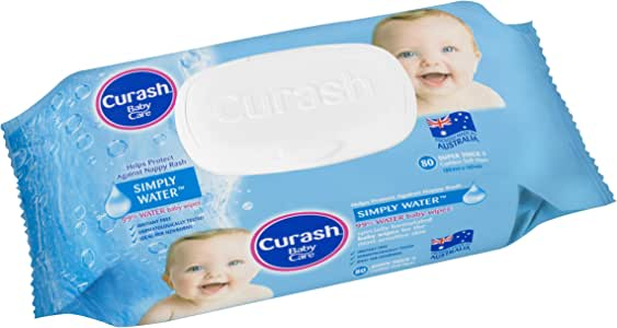 Curash Water Baby Wipes 80 PK