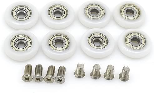 8 ruedas de repuesto para puerta de ducha corredera, 22 mm de diámetro: Amazon.es: Bricolaje y herramientas
