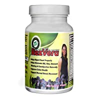#1 Best All Natural Digestive Supplement for IBS Irritable Bowel Syndrome Stomach Bloating Gas Diarrhea Heartburn Acid Reflux Constipation Indigestion - RezVera 90 Capsules