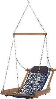 product image for Nags Head Hammocks Cumaru Hanging Hammock Chair, Navy Blue