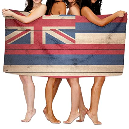 swsw Hawaii bandera del estado madera textura toalla de baño toallas de playa de playa manta