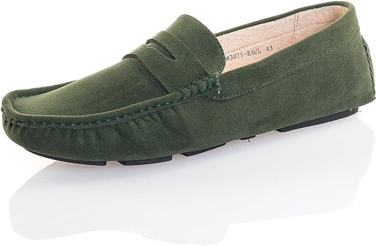 Reservoir Shoes Chaussure Homme Mocassin Kaki foncé